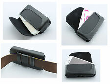NEW Premium Horizontal Side Leather Belt Clip w/ Loops Cover Pouch Holster Case
