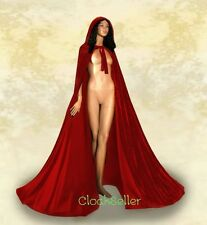 Red Hooded Cloak MEDIEVAL Cape Red Velvet Wedding Cloak Red Cape Wicca Cloak SCA