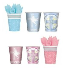 8 PAPER CUPS Boys or Girls Communion/Confirmation/Christening (Party Tableware)