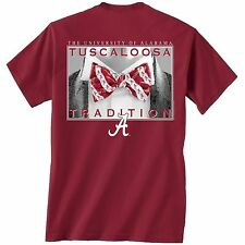 NCAA Alabama Crimson Tide Unisex T-shirt - Bow Tie Tradition - Color Crimson