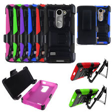 Phone Case For Straight Talk LG Power Rugged Cover Stand with Holster Belt Clip