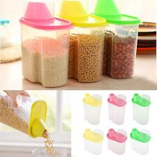 1.8L 2.5L Dry Dried Food Cereal Pasta Flour Storage Dispenser Rice Container Box