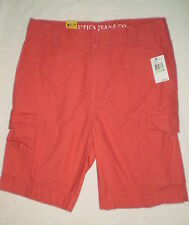 Nautica Jean Co. Mens Sailor Red Cargo Cotton Shorts Size 38 New