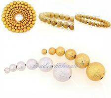 Wholesale 100Pcs Silver&Golden Stardust Copper Ball Spacer Beads