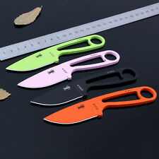 Tactical Steel Fixed Blade Survival Utility Knife Powder Coated Free Shipping