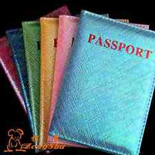 Travel Colorful Passport Holder Protector Cover Wallet PU Leather Cover