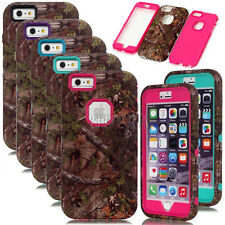 Camo Tree Skin Armor Heavy Duty Combo Shockproof Matte Case For iPhone 6 6S Plus