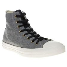 New Mens Converse Black All Star Hi Textile Trainers Top Lace Up