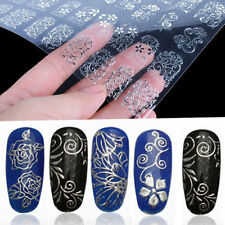108Pcs 3D Flower Design Nail Art Sticker Tips Decal Flower Manicure Stickers NEW