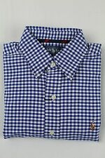 Polo Ralph Lauren Blue Checkered Button Down Classic Fit Oxford Dress Shirt NWT
