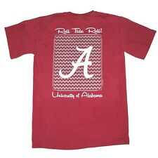 Alabama Crimson Tide T-Shirts - Chevron Pattern Around Script A - Color Crimson
