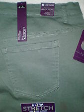 Gloria Vanderbilt Amanda Stretch Denim Jeans Womens Plus Size 24W Short New
