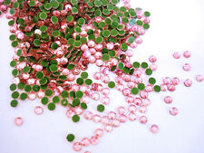144 Hot Fix Iron On Rhinestones/Fabric Trim/Craft *FREE US SHIP* SS16 4mm-Pink