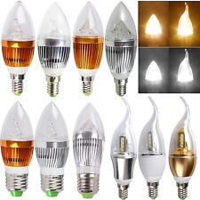 Dimmable E27 E14 Flame 3W 9W 12W High Power LED Chandelier Candle Light Bulb New