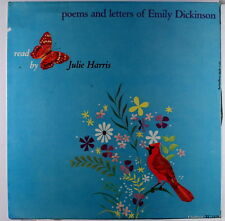 JULIE HARRIS: Poems & Letters Of Emily Dickinson LP (rubber stamp ol, tiny tear