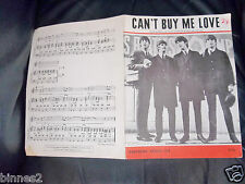 THE BEATLES SHEET MUSIC CAN'T BUY ME LOVE 1964 NORTHERN SONGS DEZO HOFFMANN