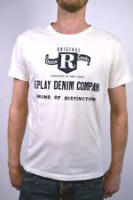 """new! REPLAY T-SHIRT white M6018 """"Replay DENIM COMPANY"""" - Size S or M"""