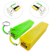 2600 mAh KEY RING POWER BANK EXTERNAL PORTABLE USB FOR VARIOUS MOBILE PHONES
