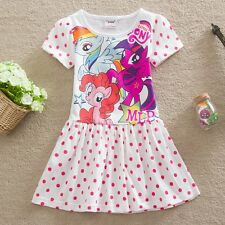 NWT My Little Pony Holiday Polka Dot Girls Dress Clothes Pink Size 3 4 5 6 7 8