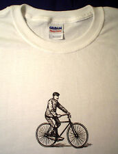 Vintage prewar bicycle single speed fixed bike fixie track balloon 29er t shirt