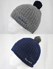 KING REIGN SUPREME ROLEY WOOLY KNITTED BOBBLE BEANIE HAT CAP NAVY, GREY