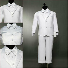 INFANT TODDLER TEEN BOY  WHITE COMMUNION TUXEDO FORMAL SUIT TUXEDO SIZE 6 MO- 20
