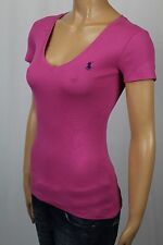 Ralph Lauren Pink Short Sleeve Knit Top Shirt V-Neck NWT