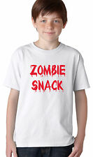 Baby and Kids Zombie Snack T-shirt or Creeper- Funny Youth Tee or Infant Romper