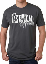 HP's Last Call Cthulhu T Shirt Funny Drinking Bar Lovecraft Tee