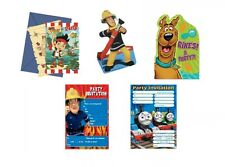 PARTY INVITATIONS (With Envelopes) - Young Boy Birthday - TV Cartoon Designs
