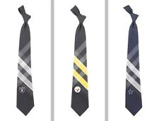 Choose Your NFL Football Team 100% Woven Polyester Grid Neck Tie by Eagles Wings