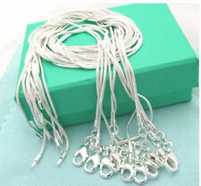 "New Free Shipping 925sterling silver 1mm snake chains 16""-30"" Necklace Wholesale"