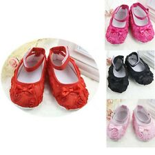 New Baby Girls Shoes Kids Toddler Cotton Shoes Rose Crib Shoes 11cm 12cm 13cm