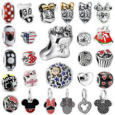 New Mickey&Minnie European bead For UK 925 sterling silver charms bracelet chain