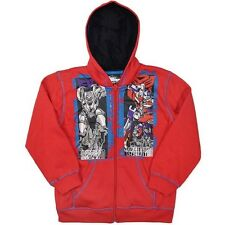 NEW TRANSFORMERS BOYS RED HOODIE JUMPER JACKET SIZE 3,4,5,6,7