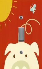 Light Switch Plate & Outlet Covers PEEK A BOO PIG