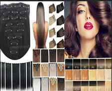 Full head clip in remy extensions 100% human hair LOT Weft 15''18''20''24''26''
