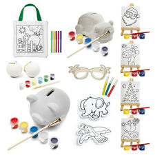 Kids Decorate Your Own Gift - Party Bag & Xmas Stocking Filler Colour Paint Art