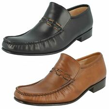 Mens Grenson Feathermaster Formal Slip On Shoes Label - Nevada 9685 Fitting F
