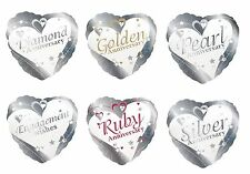 "Creative Party Foil Heart Balloon 18"" Engagement/Anniversary/Wedding/Helium/Love"
