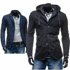Men's Jacket Ex 120 Sweatshirt Coat Hood Slim Fit Hoodie Casual Blazer Hoody