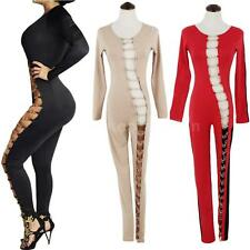 Sexy Womens Hollow Out Bandage Bodycon Club Party Jumpsuit Romper Bodysuit 10NQ