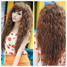 Lady Women Fashion Cosplay Curly Wavy Wig Cosplay Party Anime Costume Wig Wigs