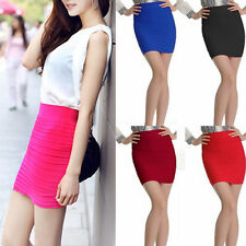 5 Candy Colors Women Mini Skirt Slim Fit Seamless Stretch Tight Fitted