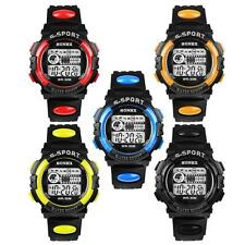 Waterproof Mens Boy's LED Alarm Date Digital Watches Rubber Sports Wristwatches