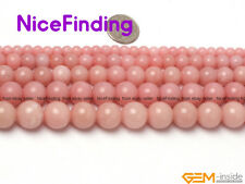 "Wholesale Lot Natural Pink Opal Round Beads For Jewelry Making Gemstone 15"" DIY"