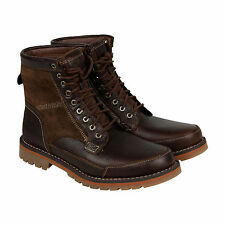 """Timberland Larchmont 6"""" Mens Brown Suede & Leather Casual Dress Boots Shoes"""