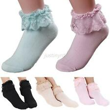 Hot Princess Girl Cute Sweet Women Ladies Vintage Lace Ruffle Frilly Ankle Socks