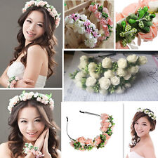 Flower Garland Floral Bridal Headband Hairband For Wedding Prom Hair Accessories