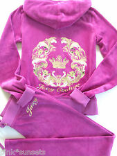 Juicy Couture Velour Mirrored Crown PInk Tracksuit Velour Hoodie Pants M L